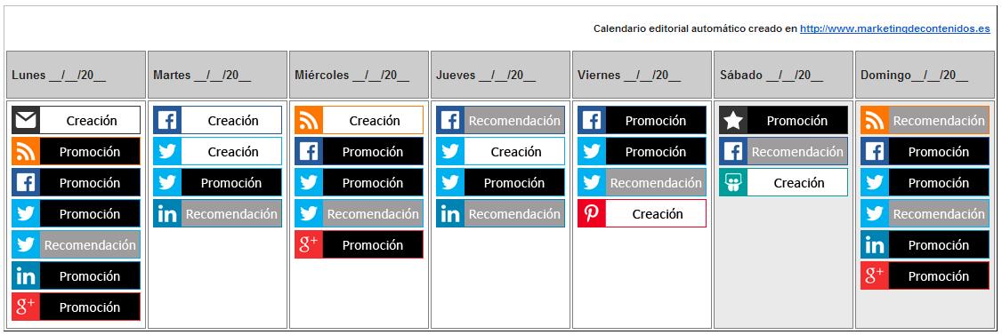 calendario editorial contenidos