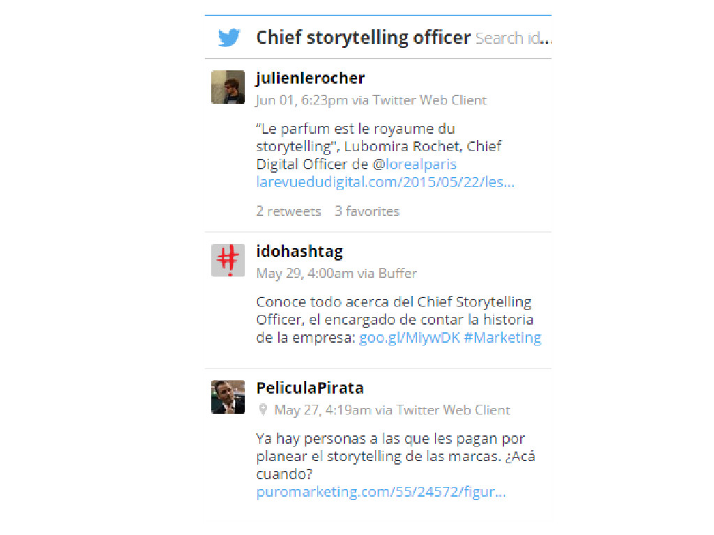 chief storytelling officer