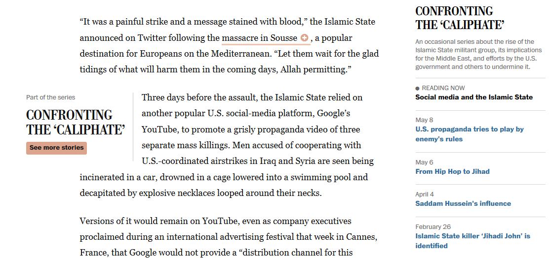 En el Washington Post puedes clicar sobre determinados ítems de la noticia para expandir su información de contexto.